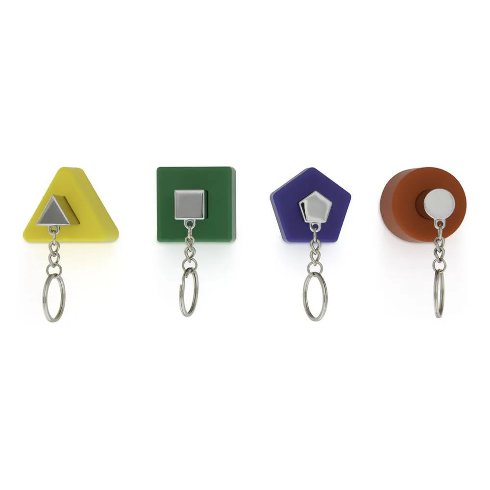 Conjunto com 4 Porta Chaves Formas