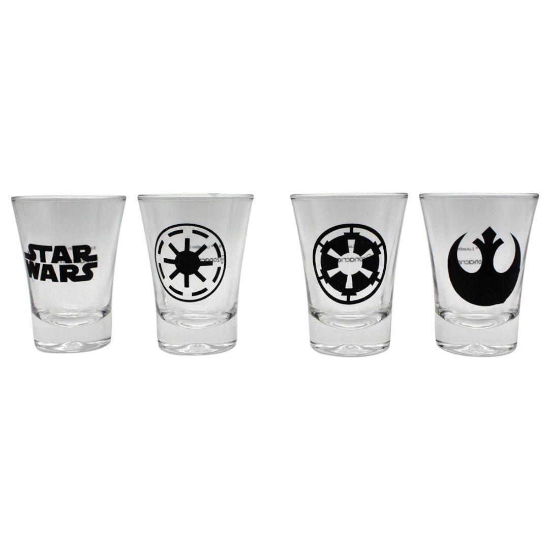 Conjunto Kit Shot 4 peças Star Wars Simbolos