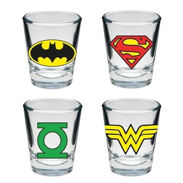 Conjunto Shot Logo Super Heroes