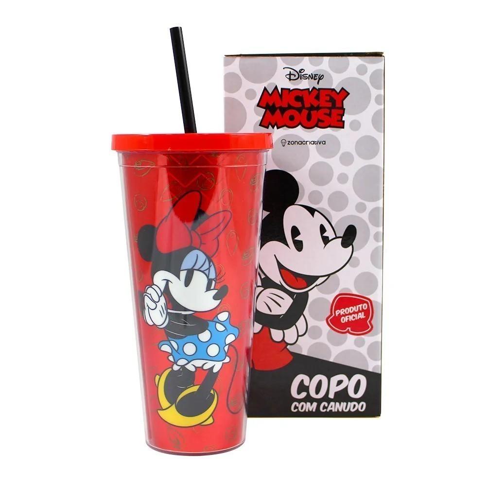 Copo Canudo Minnie Mouse
