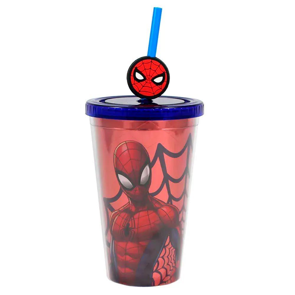 Copo Canudo Homem Aranha