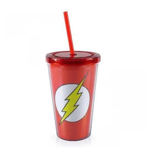 Copo Plástico logo The Flash