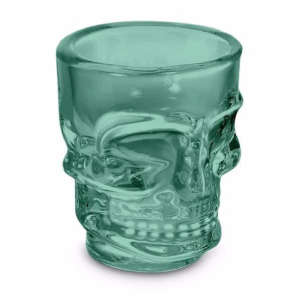 Copo Shot Caveira Skull Dose 50ml - verde