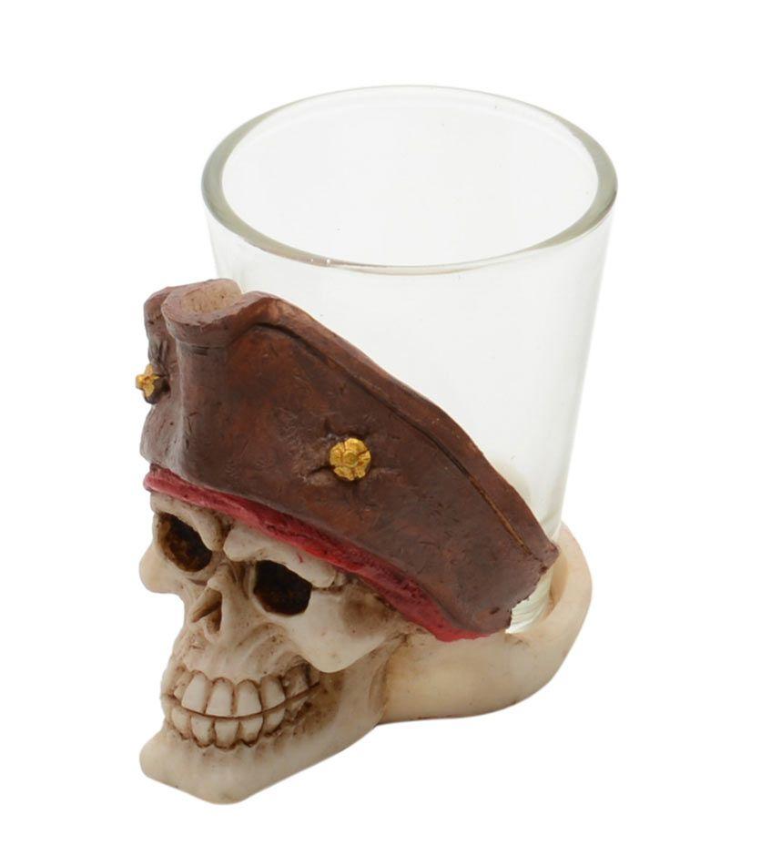 Copo Shot Mini Caveira Pirata