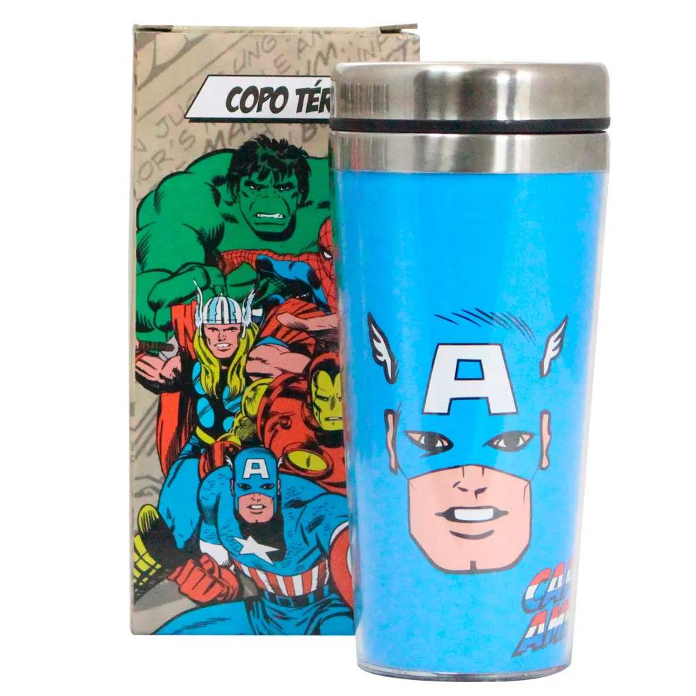 Copo Térmico Capitão América Comics
