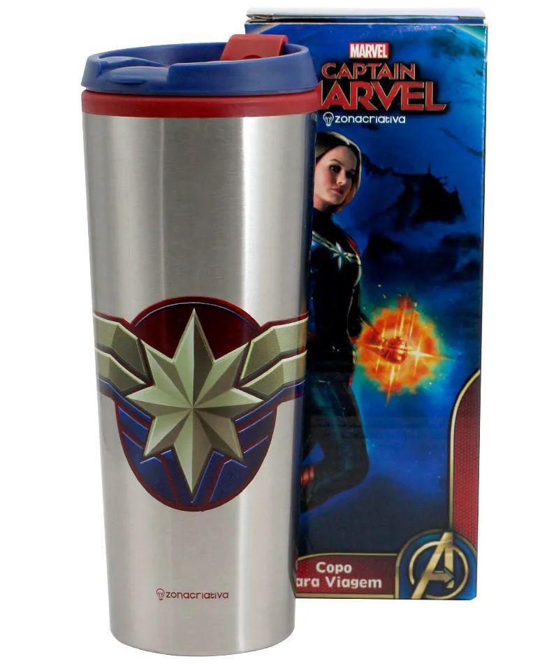 Copo Viagem Capitão Marvel