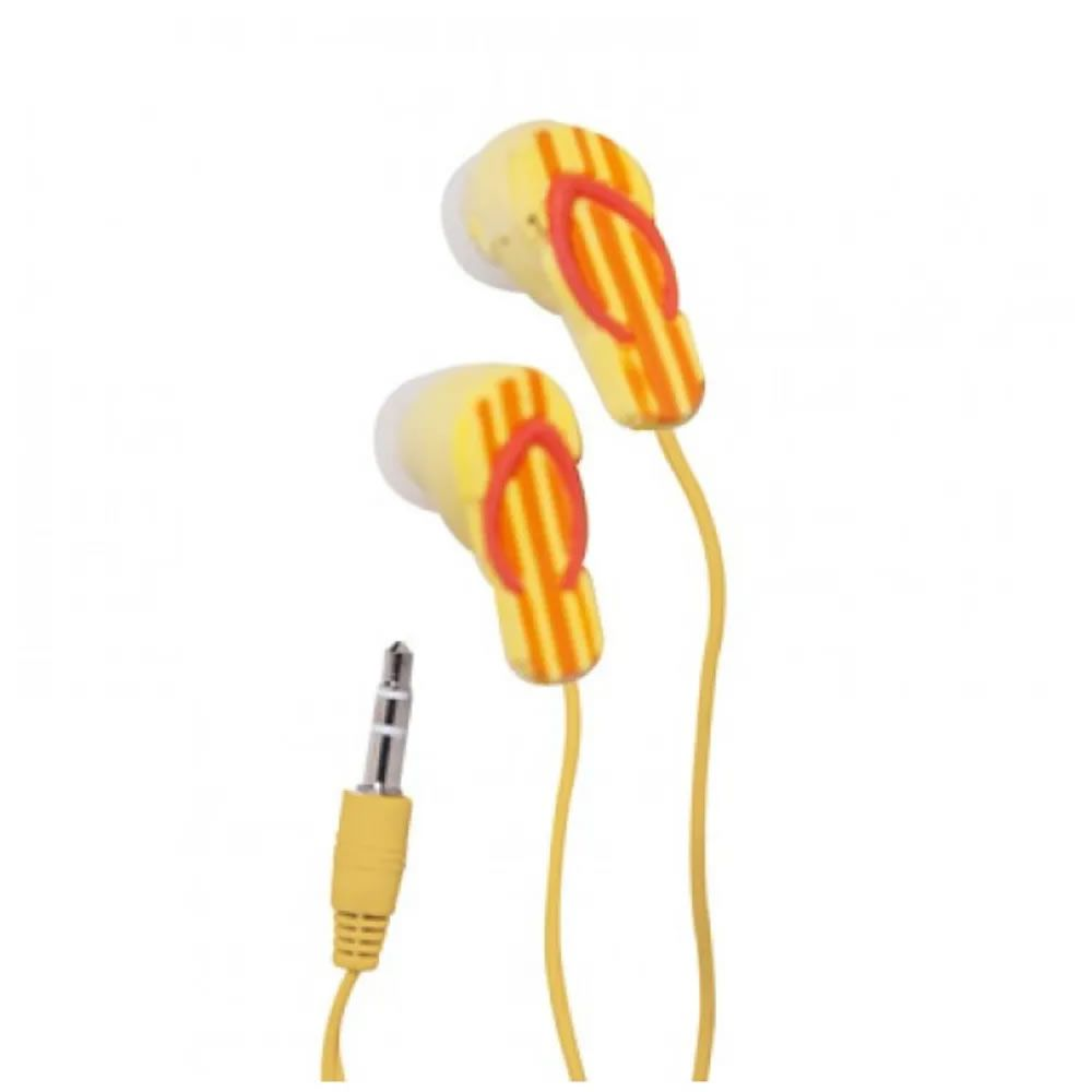 Fone de ouvido chinelo - amarelo listrado
