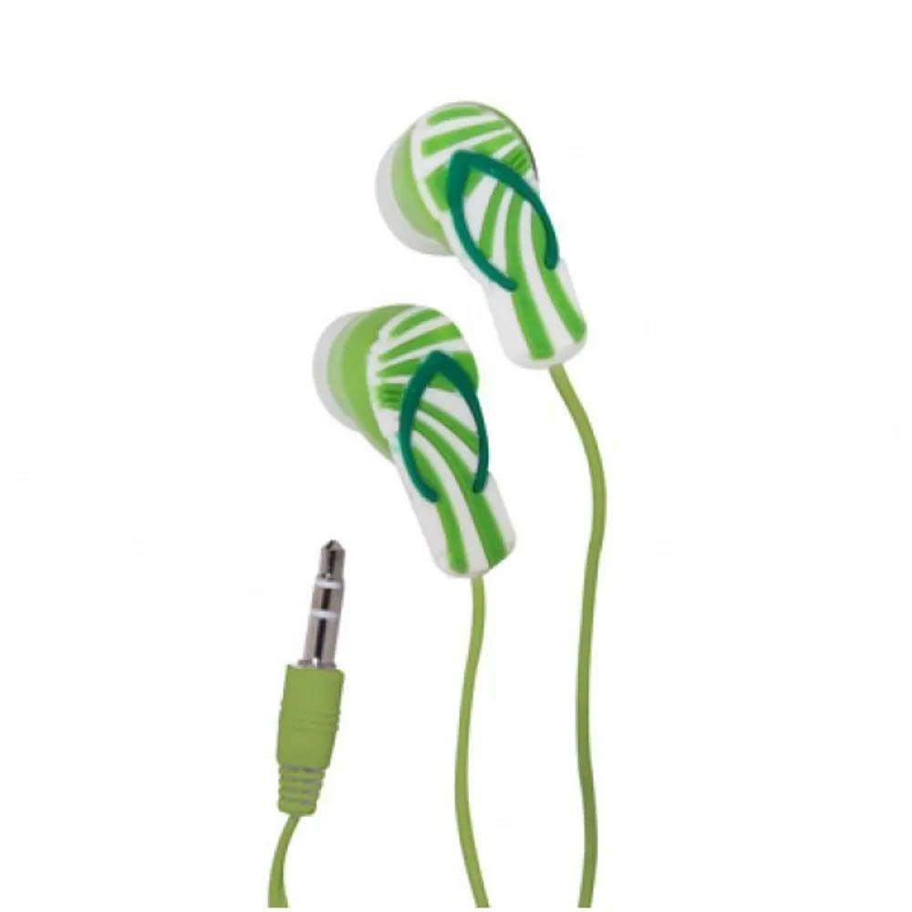 Fone de ouvido chinelo - verde listrado