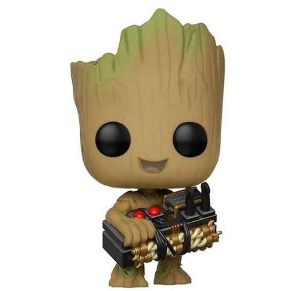 Funko Pop! Guardiões da Galáxia Groot Holding Bomb