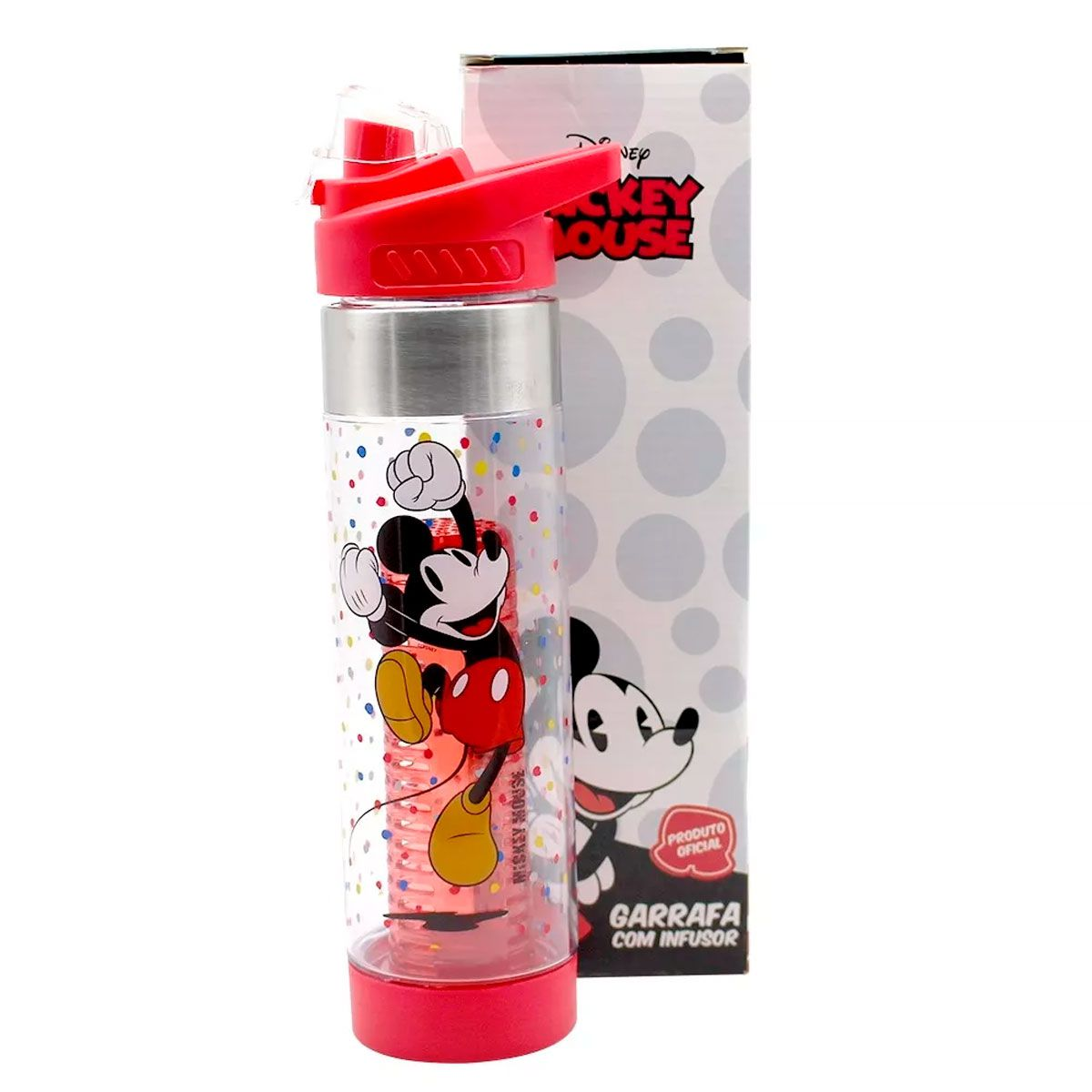 Garrafa Com Infusor Mickey Mouse 750ML