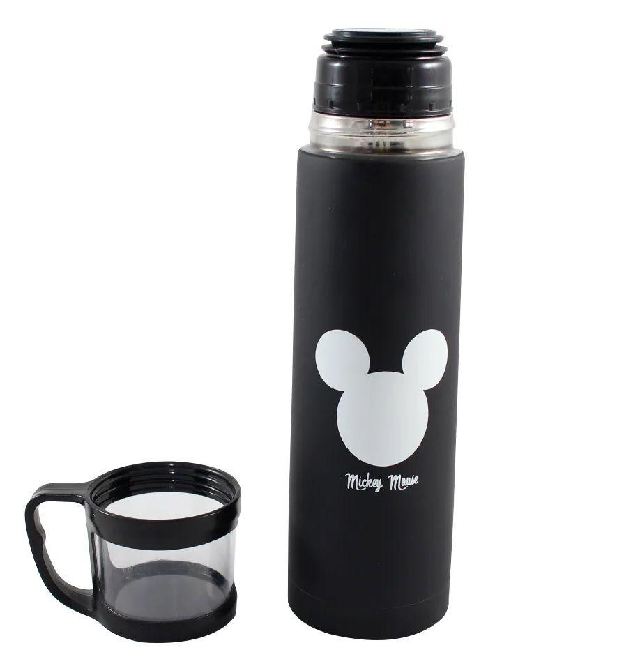 Garrafa com Xicara Mickey Logo