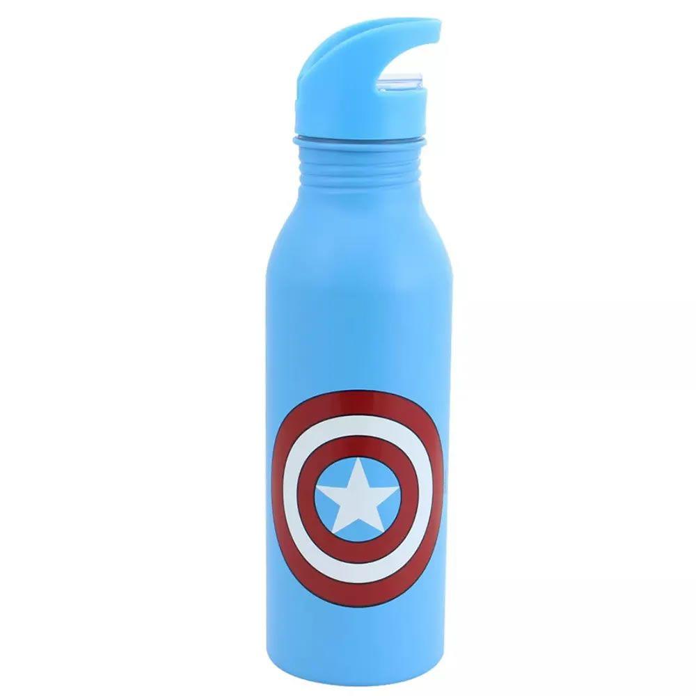 Garrafa de Alumínio Escudo Capitão América