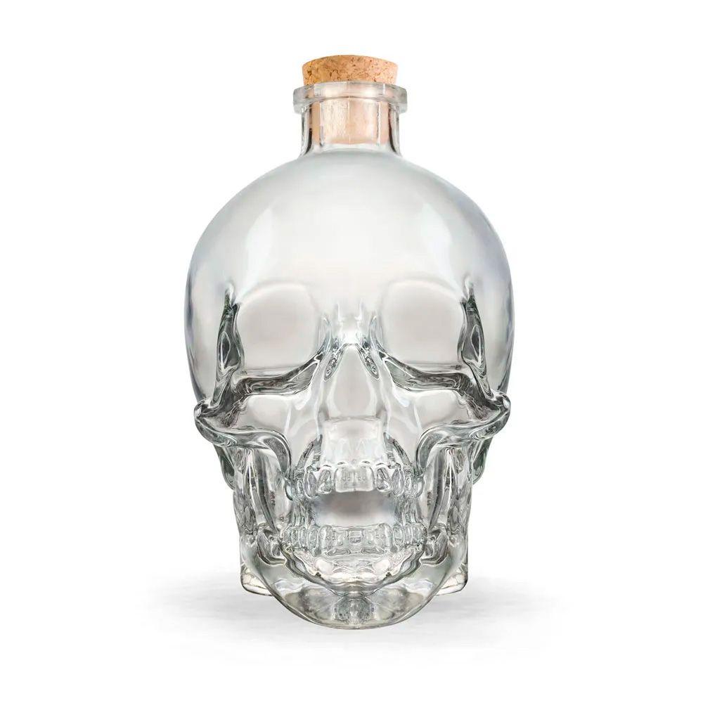 Garrafa de vidro Caveira Skull