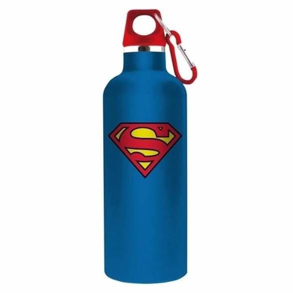 Garrafa Térmica azul logo do Superman