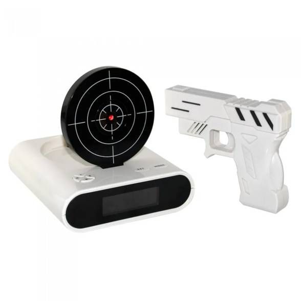 Gun Alarm - Relógio Despertador com Tiro ao Alvo