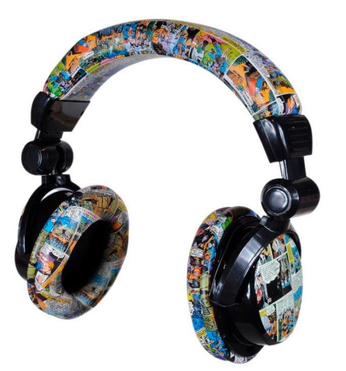 Headphone PVC / Couro Quadrinhos DC