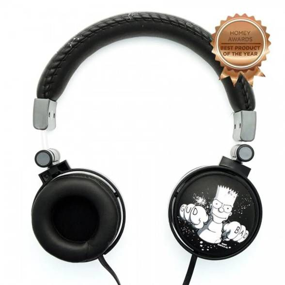 Headphone The Simpsons Bart Bad Boy com Microfone Embutido
