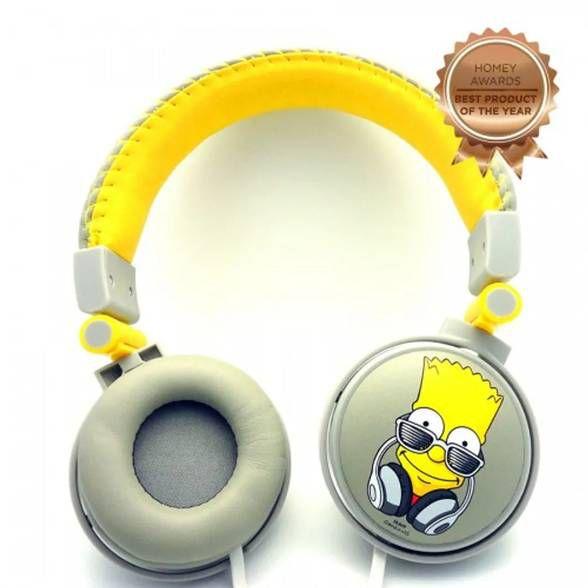 Headphone The Simpsons Bart Music com Microfone Embutido