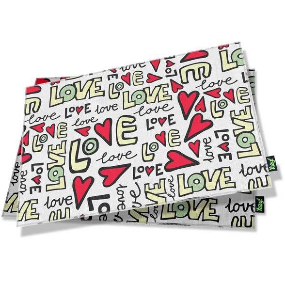 Jogo Americano Textura Love (2 peças)