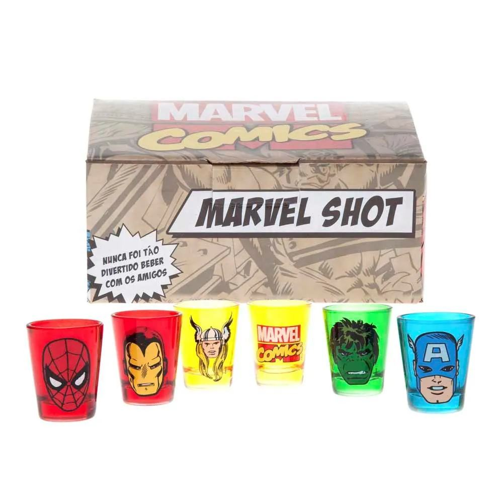 Kit Copos de Shot Marvel