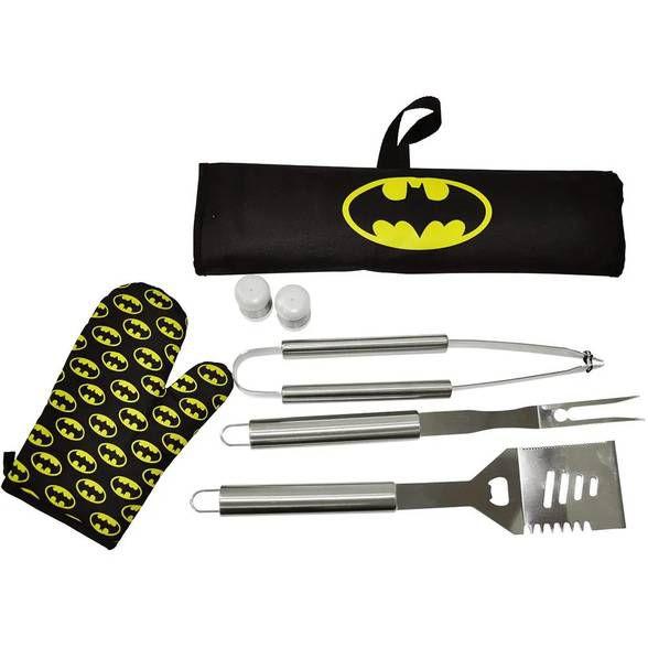 Kit para Churrasqueiro Batman com 7 peças
