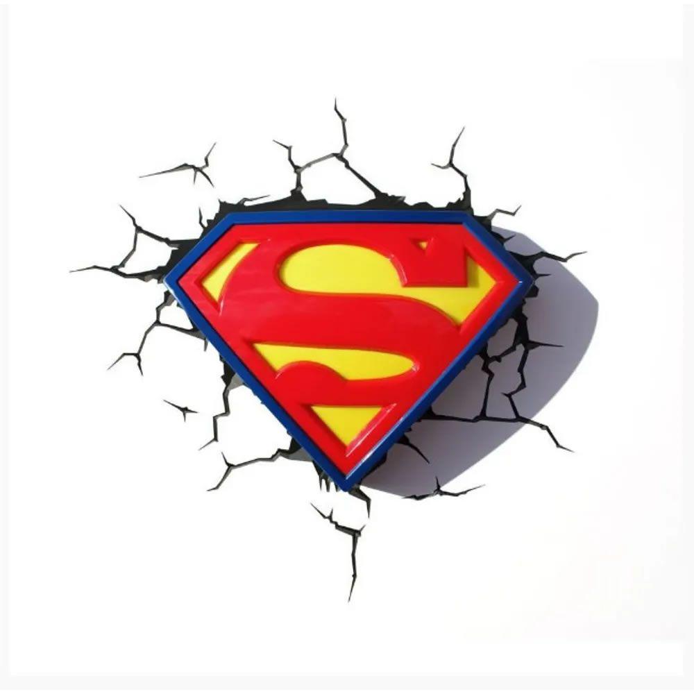 Luminária 3D Light FX Logo Superman