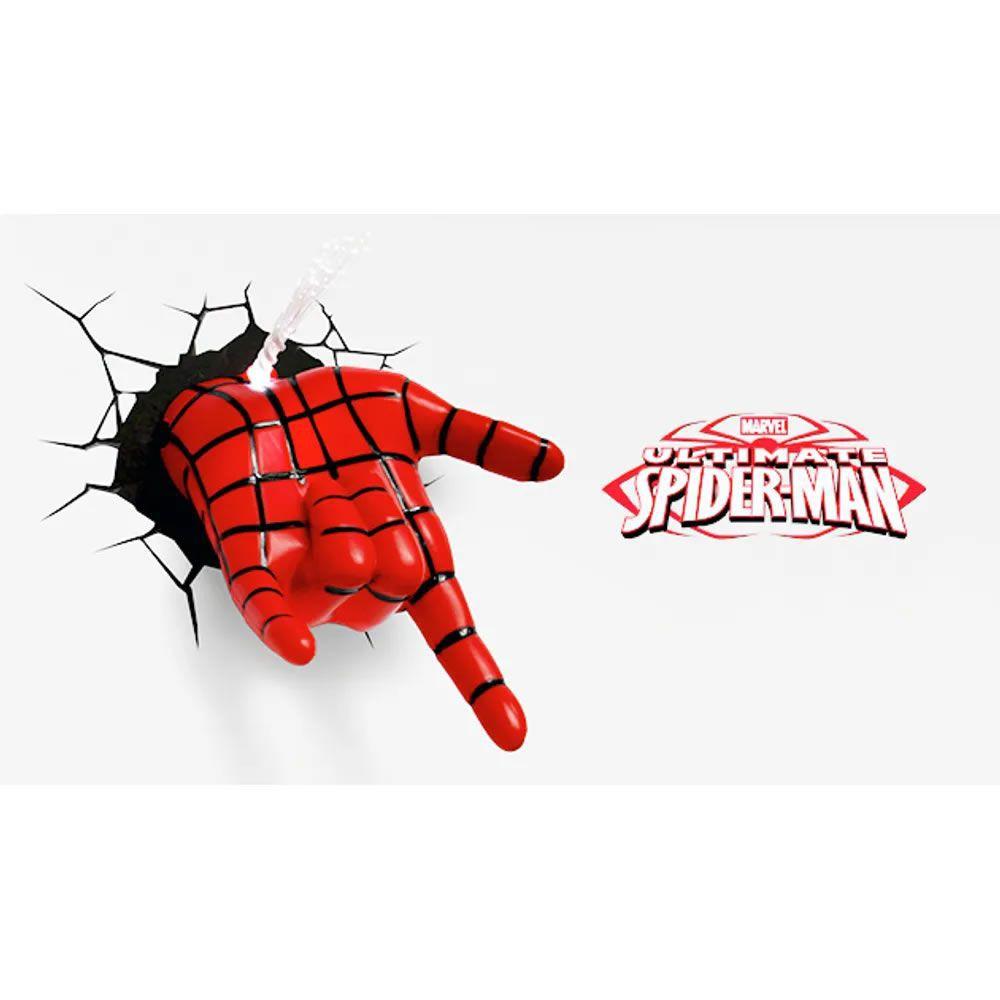 Luminária 3D Light FX Mão do Homem Aranha