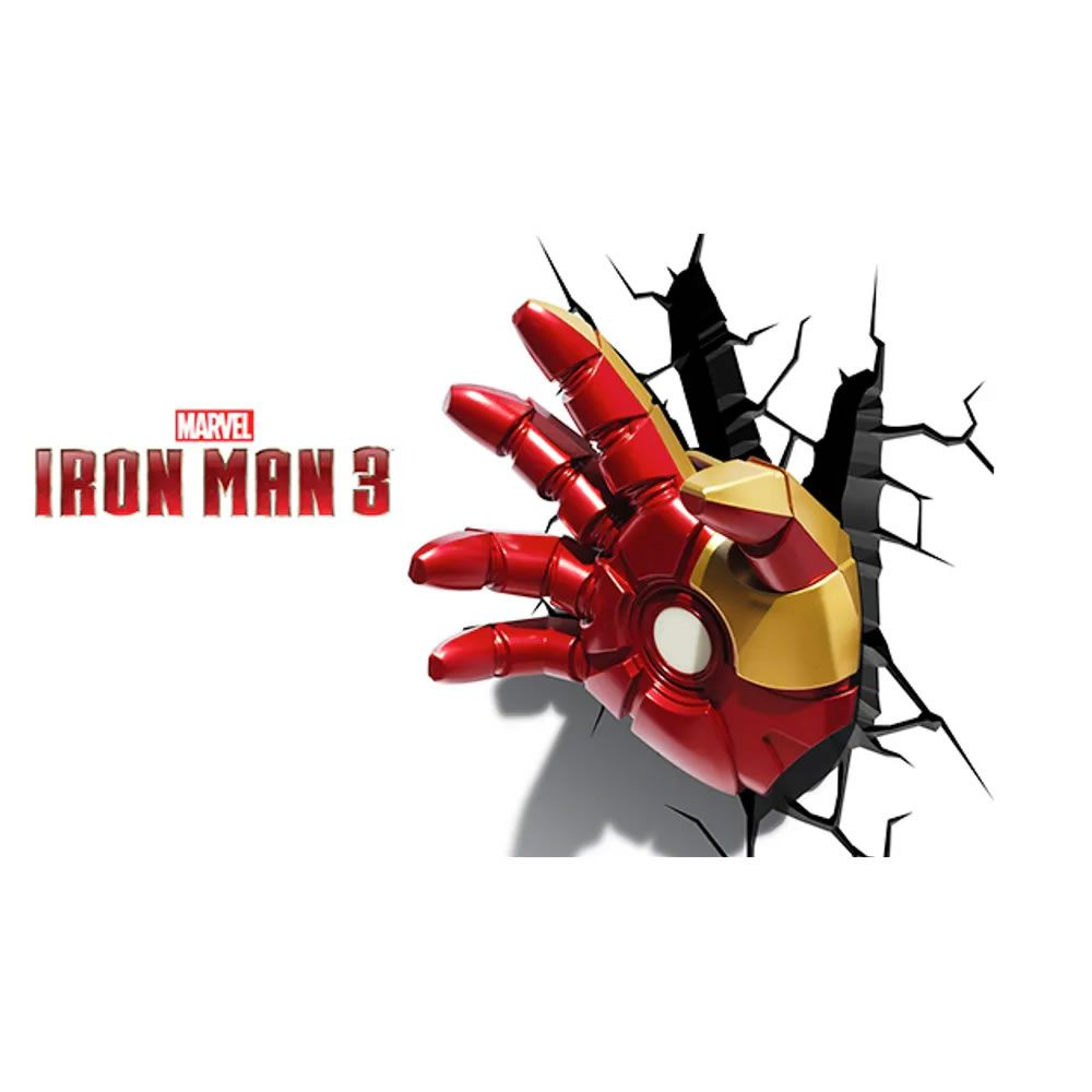 Luminária 3D Light FX Mão do Homem de Ferro