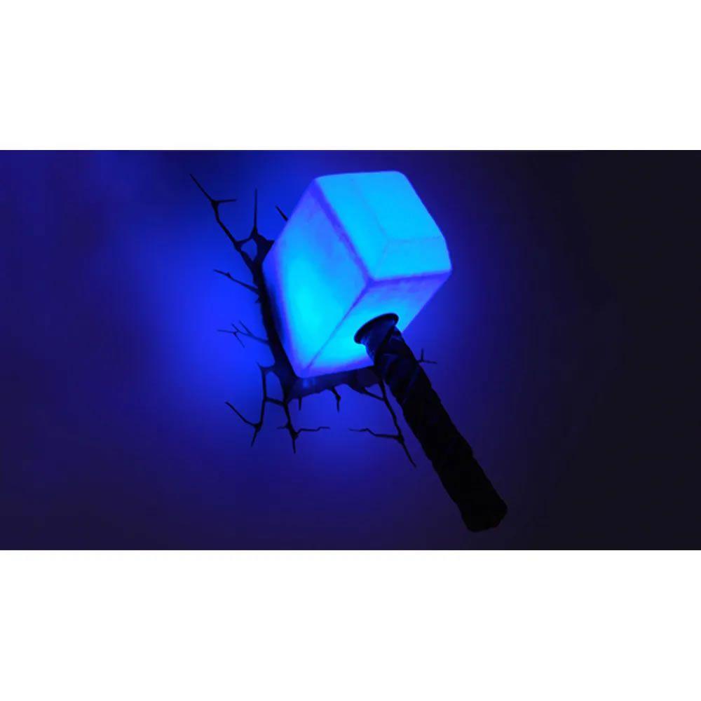 Luminária 3D Light FX Martelo do Thor