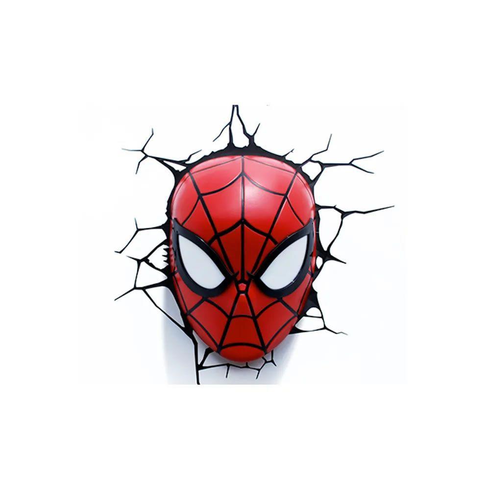 Luminária 3D Light FX Máscara do Homem Aranha