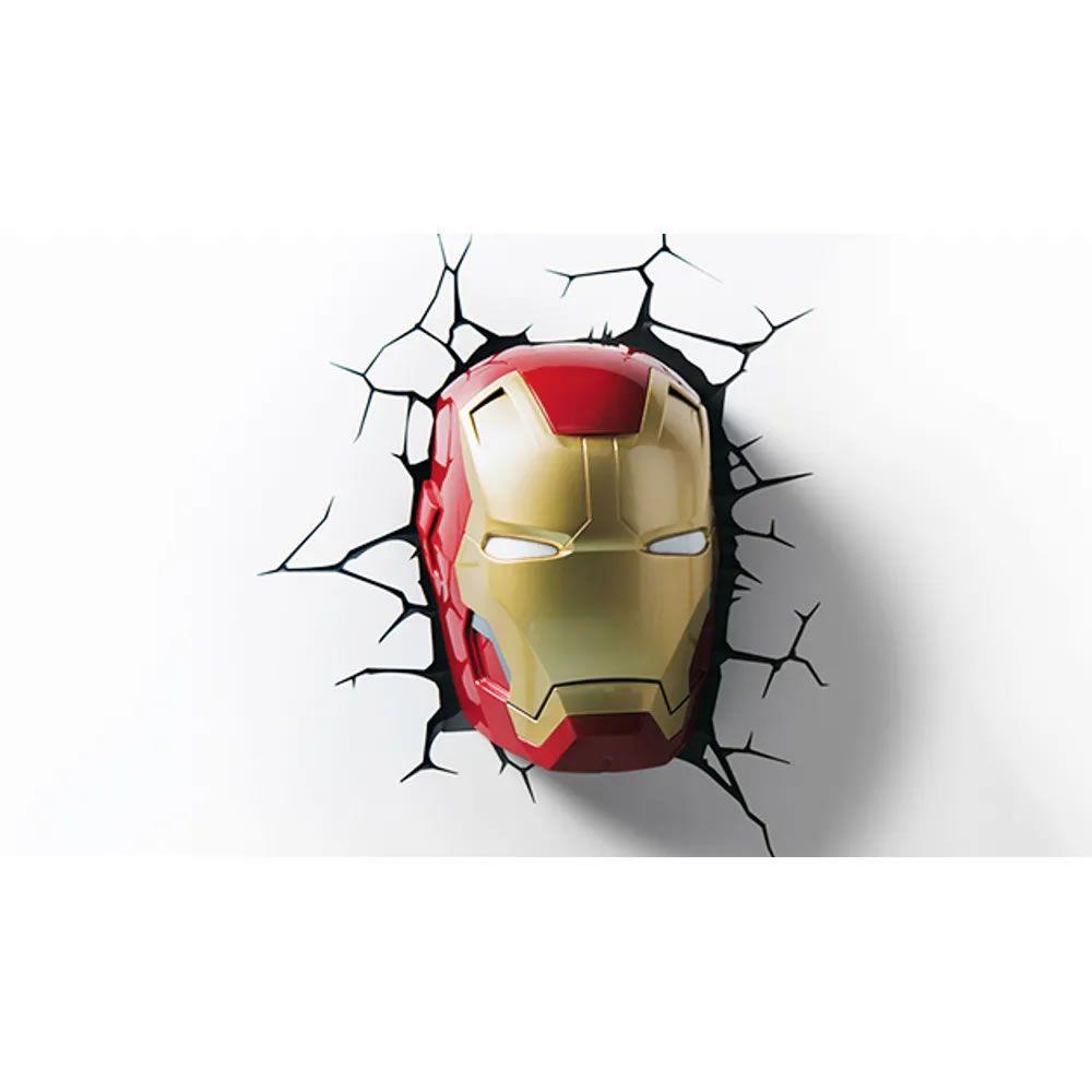 Luminária 3D Light FX Máscara do Homem de Ferro