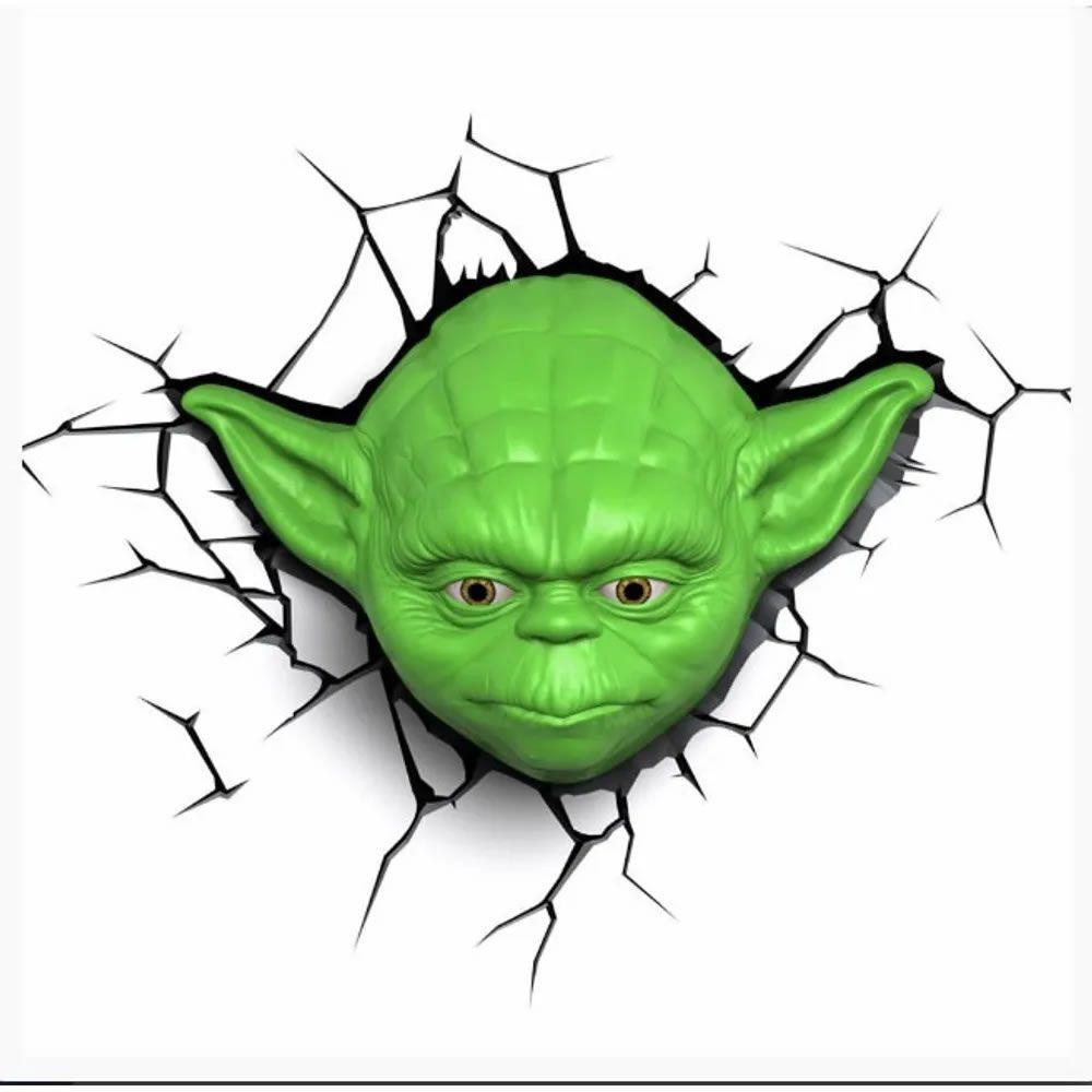 Luminária 3D Light FX Star Wars Rosto Yoda