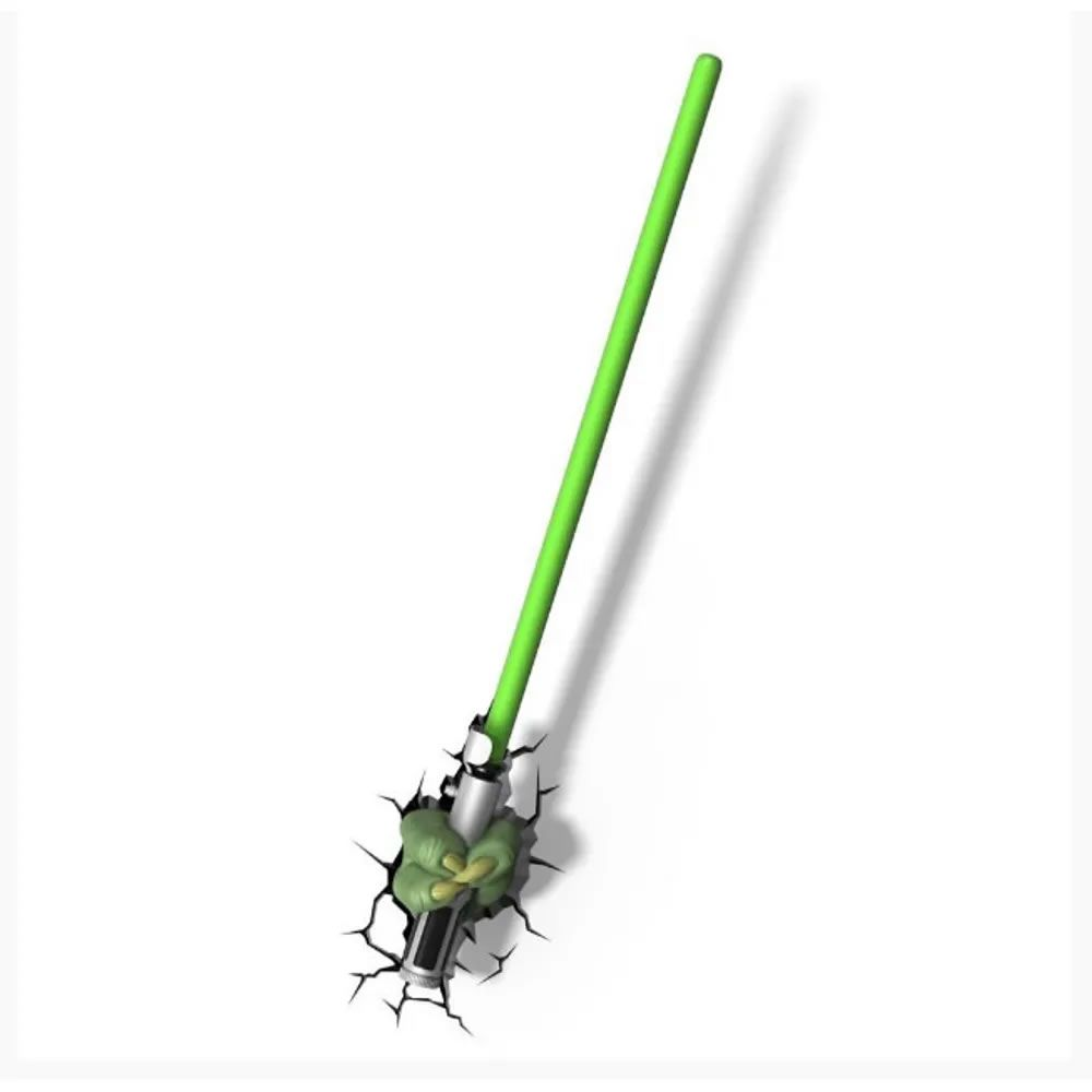 Luminária 3D Light FX Star Wars Sabre Yoda