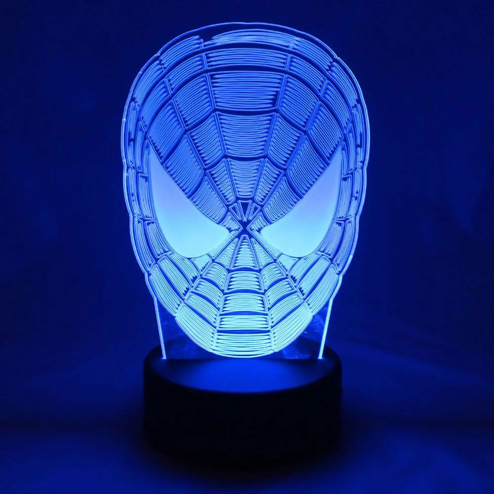 Luminária Led Homem Aranha