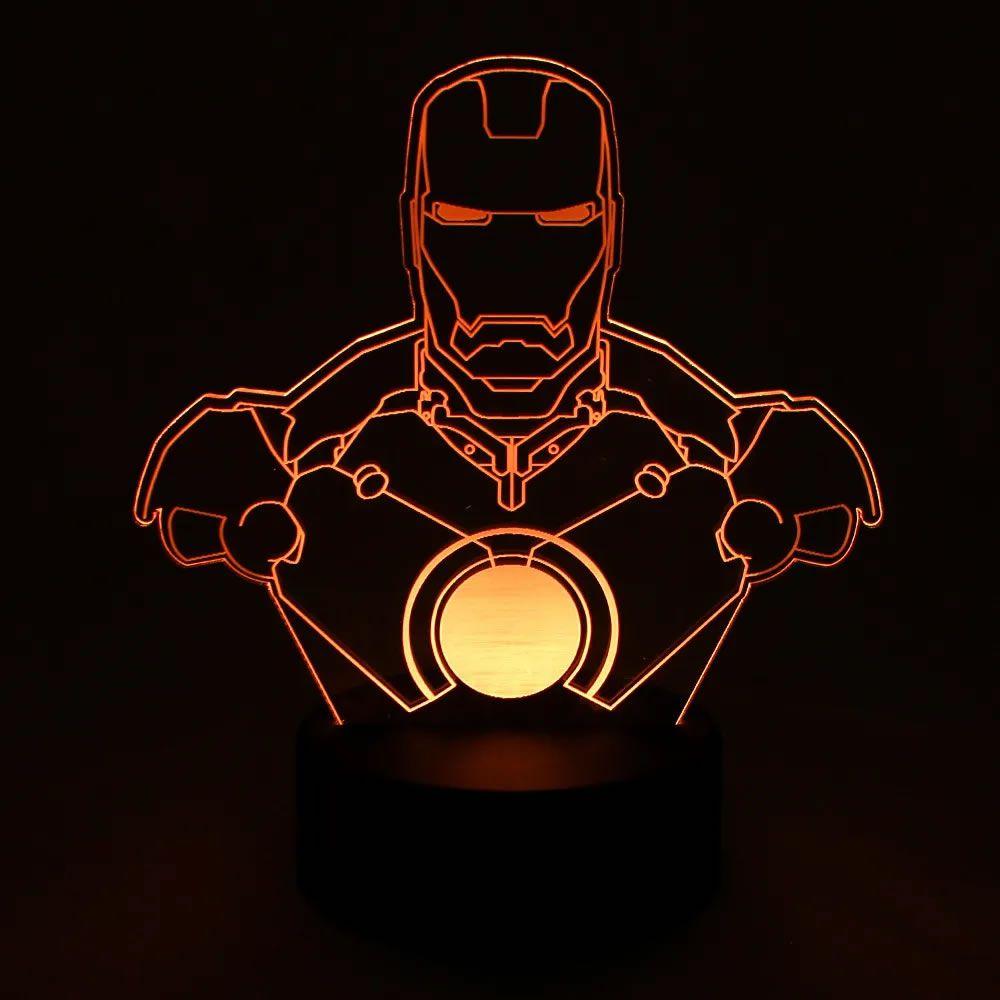 Luminária Led Homem de Ferro