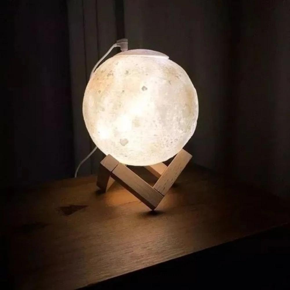 Luminária Umidificador Lua - Cores
