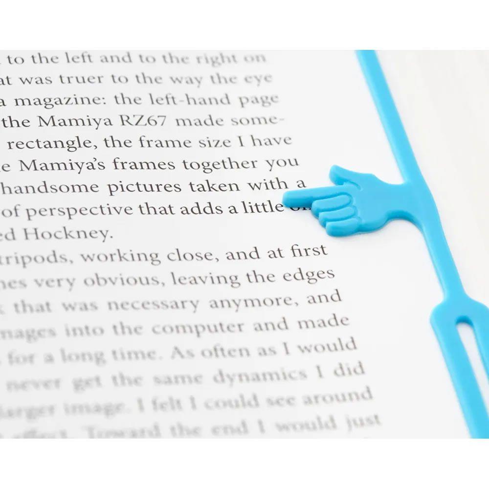 Marcador de livro Finger Bookmark Azul