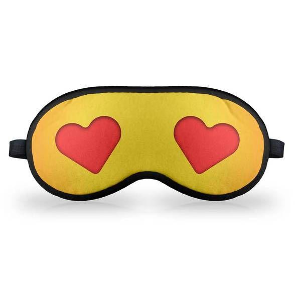 Máscara de Dormir - Emoticon Emoji Amor