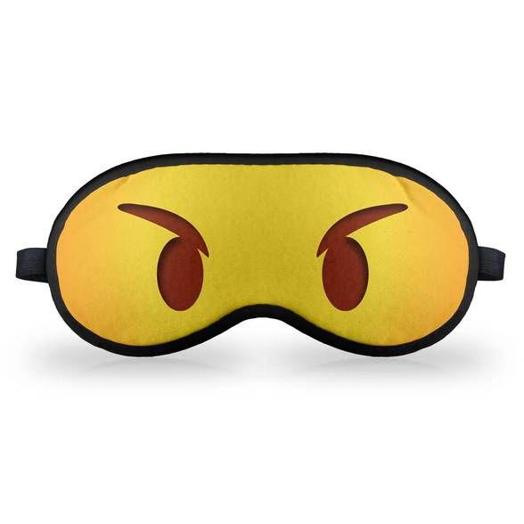 Máscara de Dormir - Emoticon Emoji Bravinho