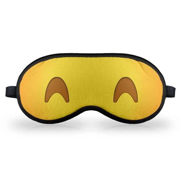 Máscara de Dormir - Emoticon Emoji Dormindo Feliz