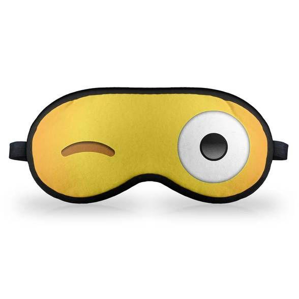 Máscara de Dormir - Emoticon Emoji Piscadinha