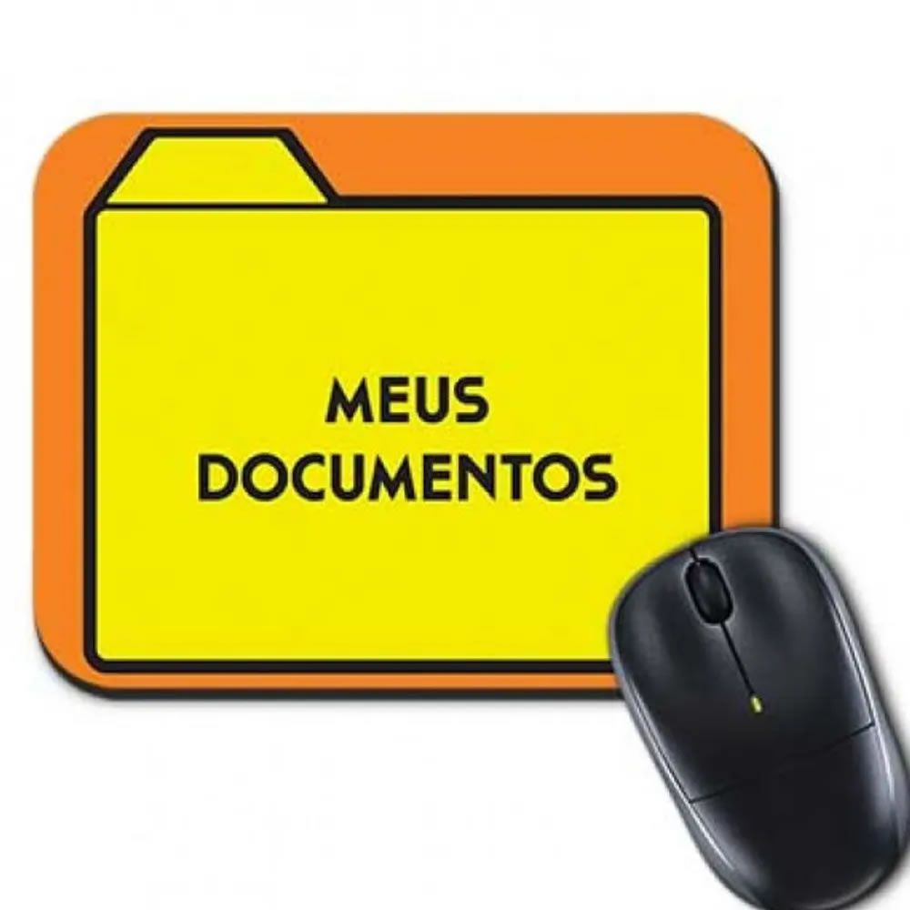 Mouse pad Meus documentos