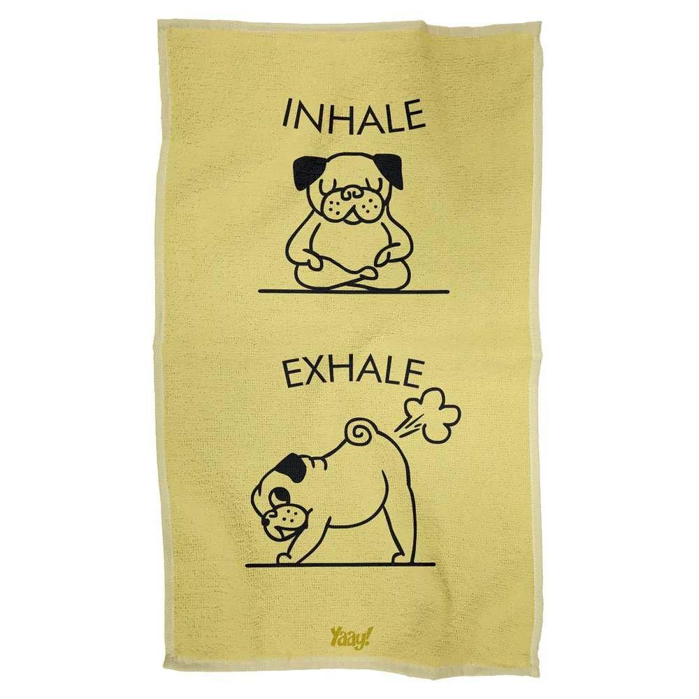 Pano de Prato Inhale Exhale Pug