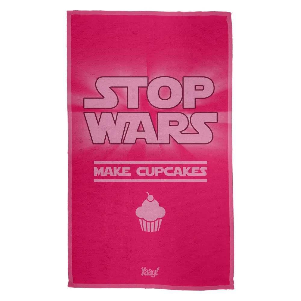 Pano de Prato Stop Wars Make Cupcakes