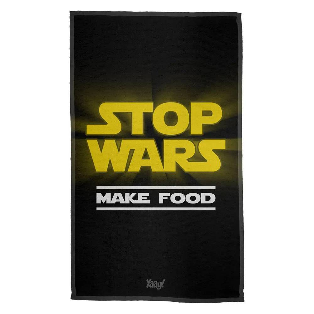 Pano de Prato Stop Wars Make Food