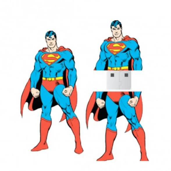 Pen Drive Superman Stand