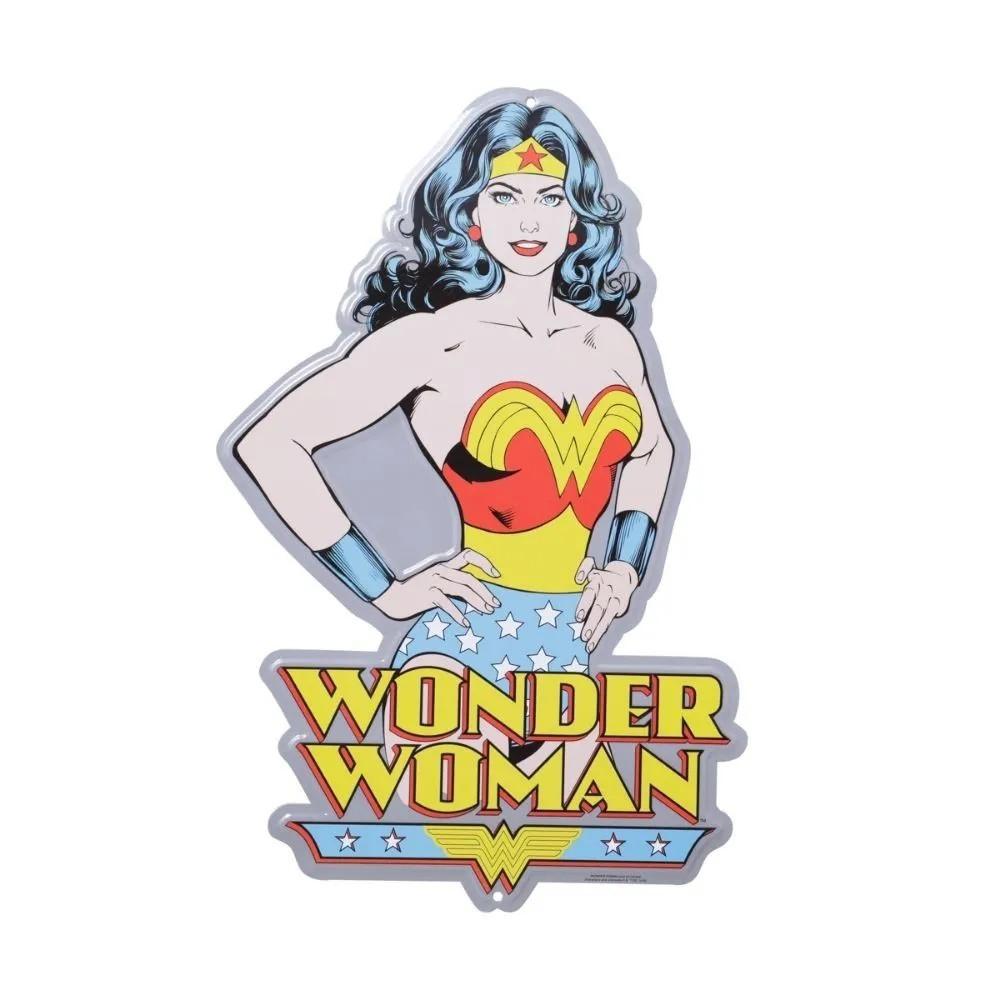 Placa mulher maravilha aluminio