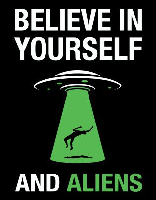 Placa Believe in Aliens