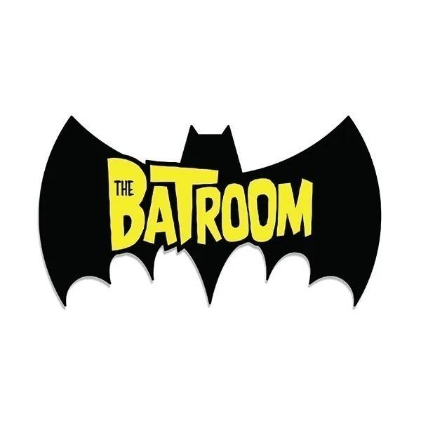 Placa de Banheiro Batroom