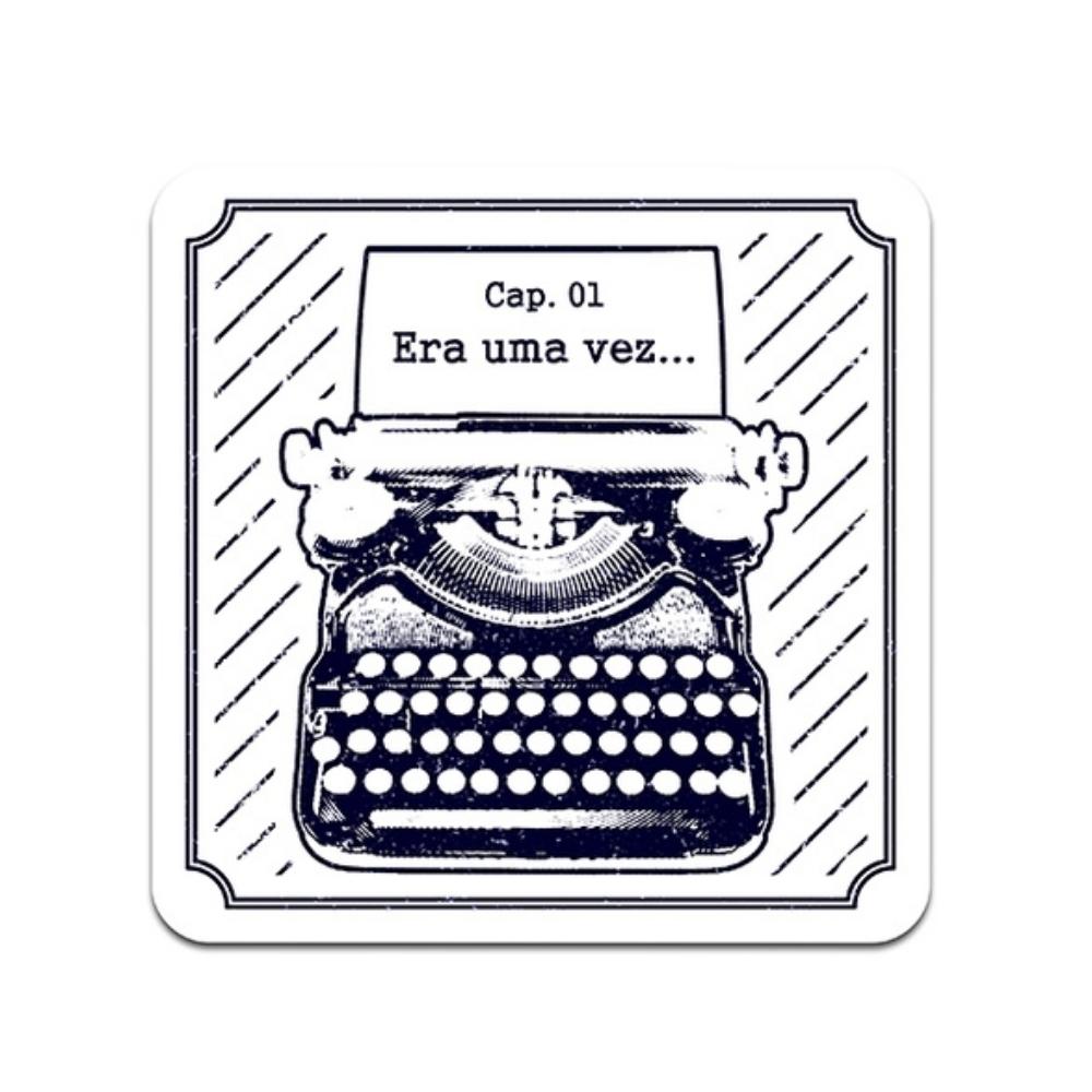 Placa de Parede Máquina Escrever